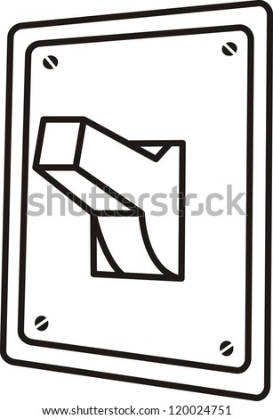 Stock Vector Vector Coloring On Off Switch