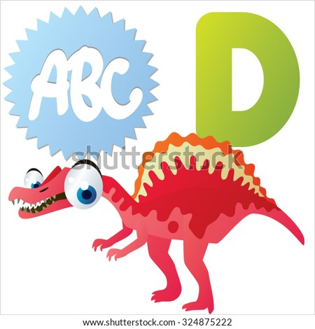 vector comic cute animals abc