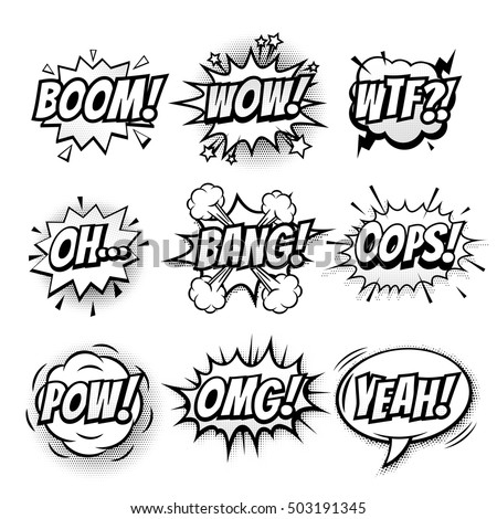 vector comic speech bubble with