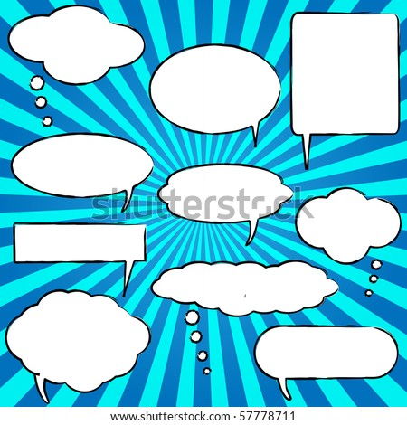 Vector Comic Speech Chat Bubbles