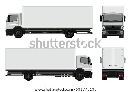 Vector commercial cargo van template