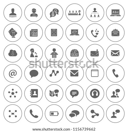 vector Communication icons set - social media and web network, computer sign and symbols