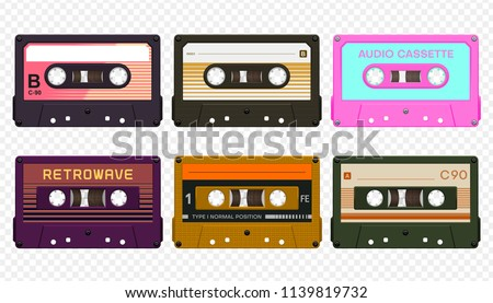 Vector compact audio cassettes collection #3