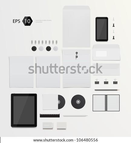 Vector company corporate style template design