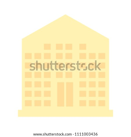 vector company illustration - office building. real estate icon