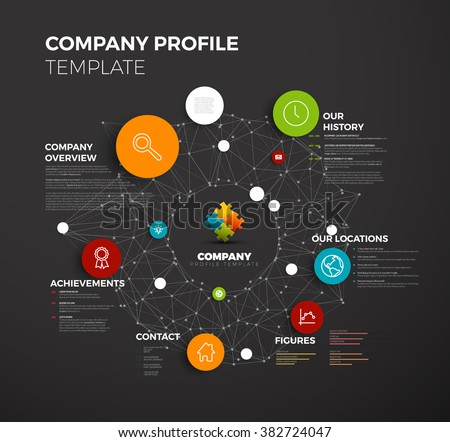 vector company infographic