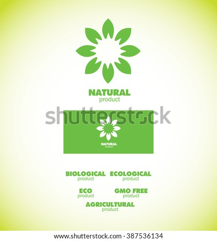 Vector Company Logo Icon Element Template Badge Natural Bio Eco – Company Bio Template