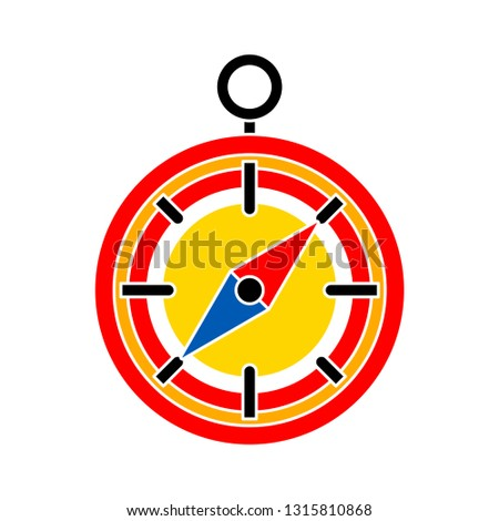 vector compass icon - navigation symbol - compass direction icon