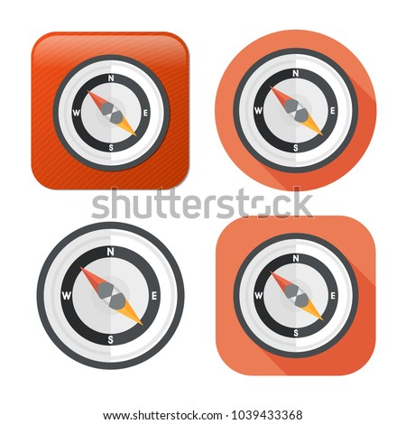 vector compass icon - navigation symbol - direction icon