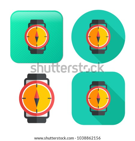 vector compass icon - navigation symbol - travel icon