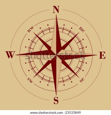 Vector - compass rose