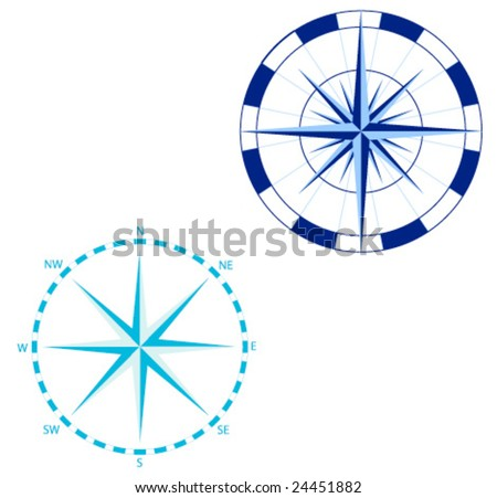 Vector Compass roses