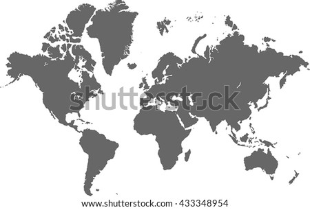 vector complete world map