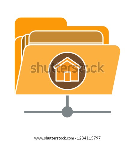 vector computer data storage folder isolated - computer directory illustration illustration . file share sign symbol