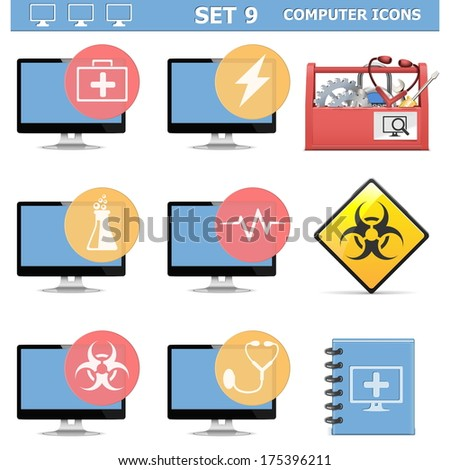 vector computer icons set 9