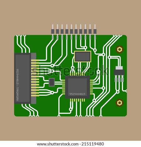 vector computer motherboard