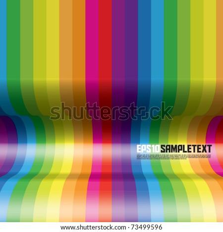 vector concave rainbow stripes