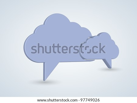 Vector concept computer cloud with bubble speech