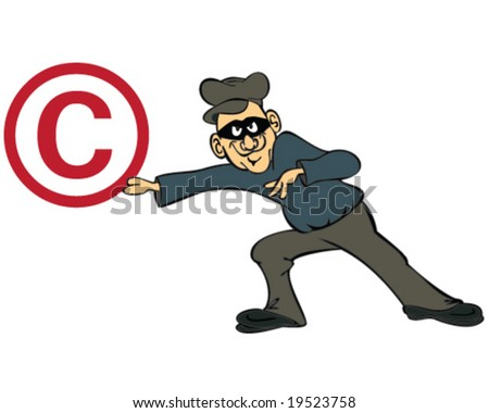vector concept copyright theft