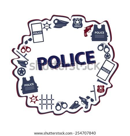 vector concept design police