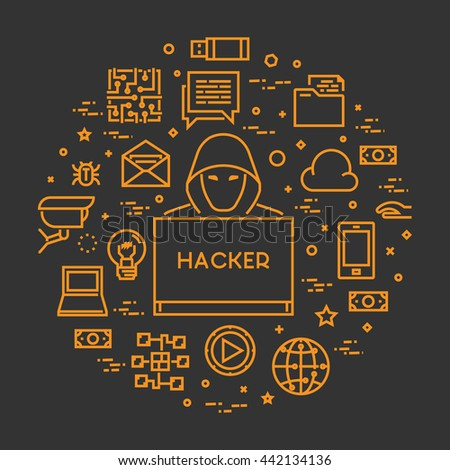 vector concept hackers and