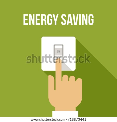 vector concept of energy saving
