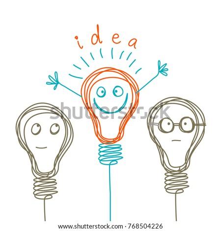 vector concept of idea ...