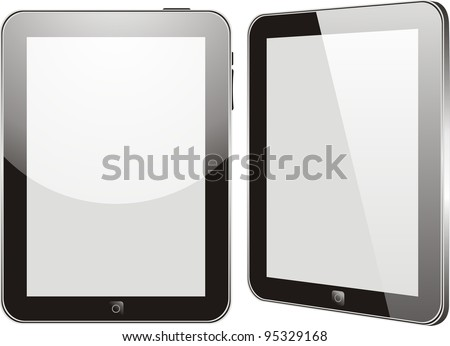 Vector concept tablet  . No transparency effects.