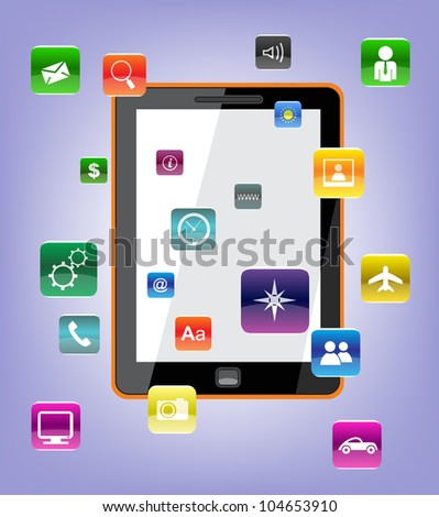 Vector Concept tablet pc icons.