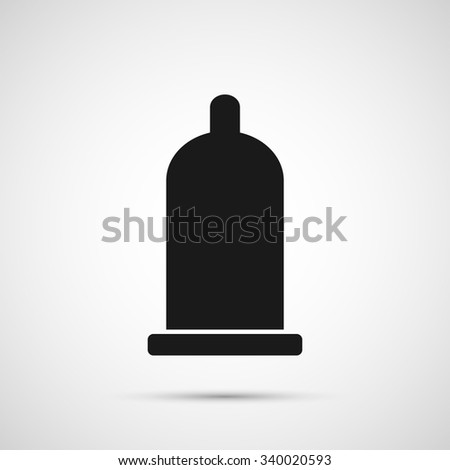 vector condom isolated on white