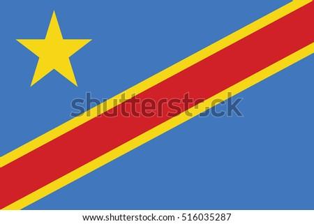 Vector Congo flag, Congo flag illustration, Congo flag picture, Congo flag image