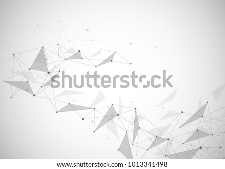 Vector connecting dots and lines. Global network connection. Geometric connected abstract background #1013341498