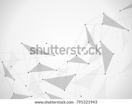 Vector connecting dots and lines. Global network connection. Geometric connected abstract background #795321943