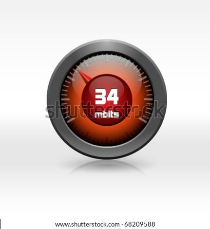 vector connection speed meter