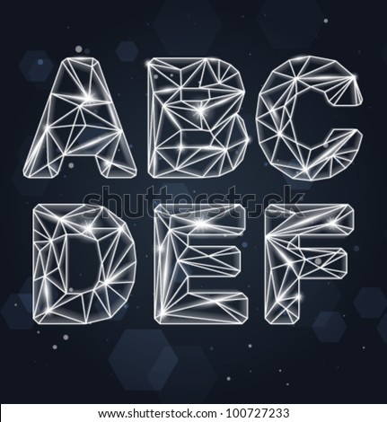 Vector Constellation Geometric Font A-F
