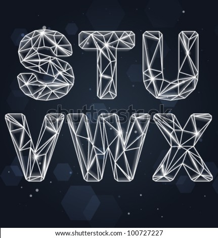 Vector Constellation Geometric Font S-X