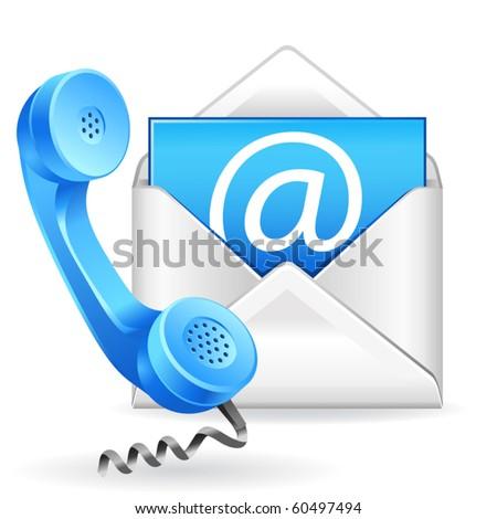 vector contact us icon