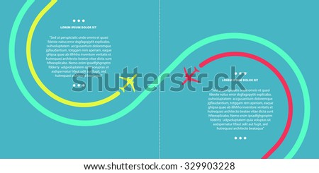 vector contrast bright business