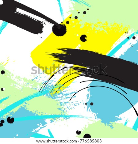 vector contrast brushstroke