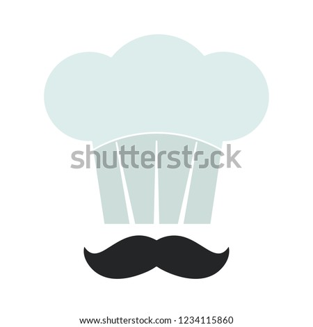 vector cooking chef flat icon - restaurant cooker sign symbol. cook uniform illustration sign