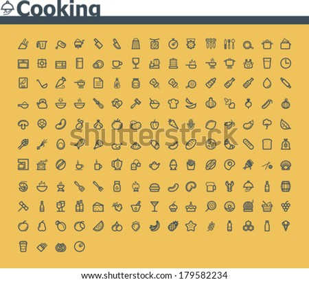 Vector cooking icon set