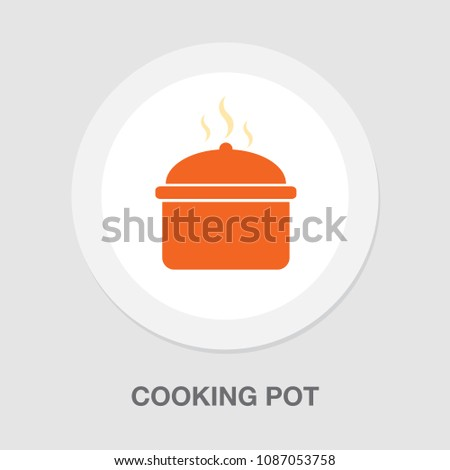 vector cooking pot - kitchen utensil, food cooking kitchenware illustration