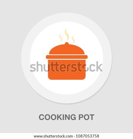 vector cooking pot - kitchen utensil, food cooking kitchenware illustration