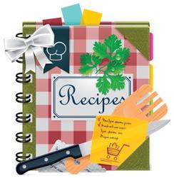 Vector cooking recipes  book XXL icon