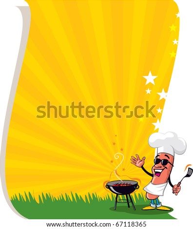 Vector Cool BBQ Poster or Flayer
