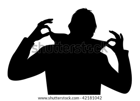 vector cool man with fingers