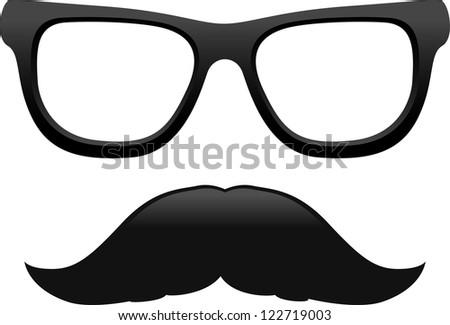 vector cool mustache