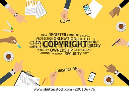 vector copyright concept