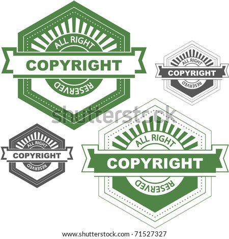 Vector copyright emblem for sale.
