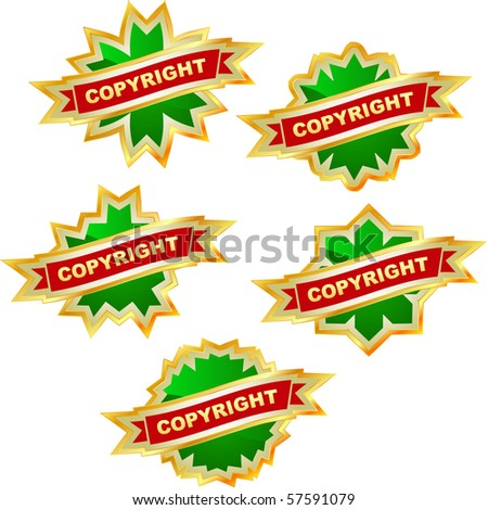 Vector copyright label set for sale.